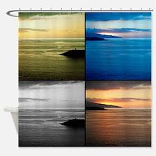 Quadriptych seascape Shower Curtain