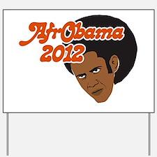 Afro Obama 2012 Yard Sign