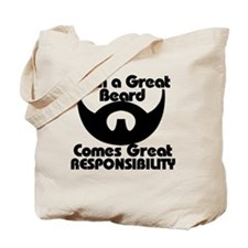 With a great beard Tote Bag