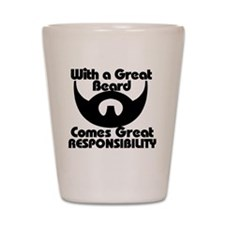 With a great beard Shot Glass