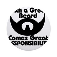 With a great beard Round Ornament