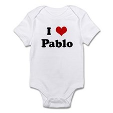 I Love Pablo Infant Bodysuit