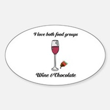 Both Food Groups Sticker (Oval)