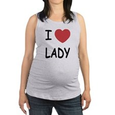 LADY.png Maternity Tank Top