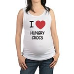 HUNGRYCROCS.png Maternity Tank Top