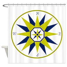 Compass Rose Shower Curtain