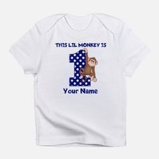 This lil Monkey Blue 1st Birthday Infant T-Shirt