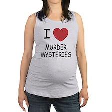 I heart murder mysteries Maternity Tank Top