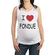 I heart fondue Maternity Tank Top