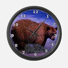 Bear Family Large Wall Clock