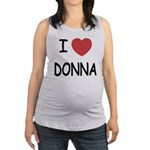 DONNA.png Maternity Tank Top