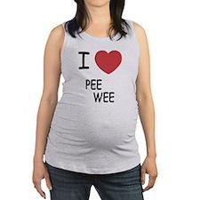 I heart PEE WEE Maternity Tank Top