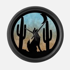 Coyote Moon Large Wall Clock