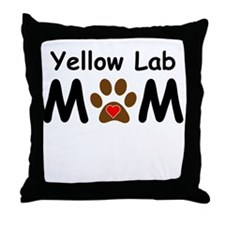 Yellow Lab Mom Throw Pillow