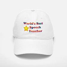 World's Best Speech Teacher Baseball Baseball Cap