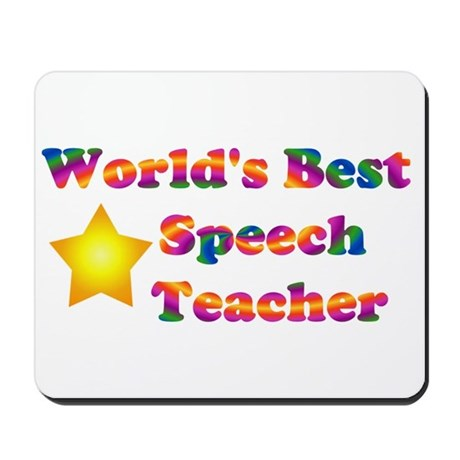 World's Best Speech Teacher Mousepad