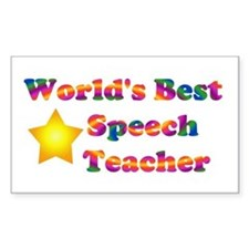 World's Best Speech Teacher Rectangle Decal