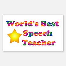 World's Best Speech Teacher Rectangle Decal