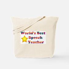 World's Best Speech Teacher Tote Bag