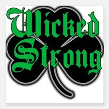 """Wicked Strong Square Car Magnet 3"""" x 3"""""""
