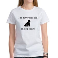 70 birthday dog years lab T-Shirt