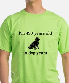 70 birthday dog years lab T-Shirt