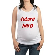 future_hero.png Maternity Tank Top