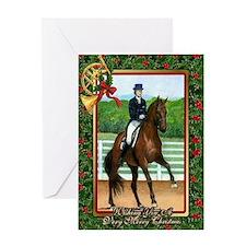 Dressage Horse Christmas Greeting Card