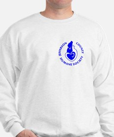 Sweatshirt with blue HSJC Logo and love