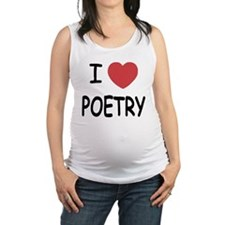 POETRY.png Maternity Tank Top