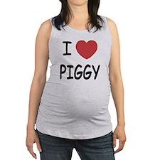PIGGY01.png Maternity Tank Top