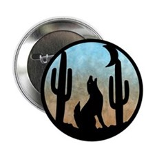 """Coyote Moon 2.25"""" Button"""