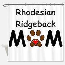 Rhodesian Ridgeback Mom Shower Curtain