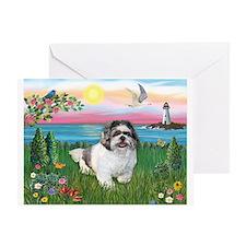 Lighthouse - Shih Tzu (M) Greeting Card