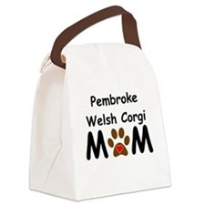 Pembroke Welsh Corgi Mom Canvas Lunch Bag