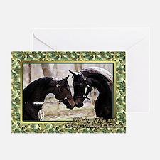 Morgan Horse Christmas Greeting Card