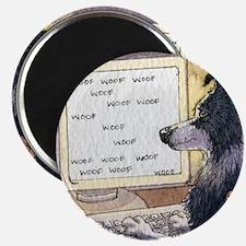 "Border Collie dog writer 2.25"" Magnet (10 pack)"