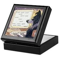 Border Collie dog writer Keepsake Box