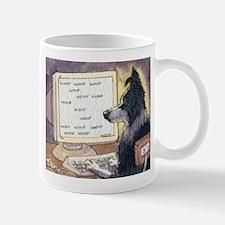 Border Collie dog writer Mug
