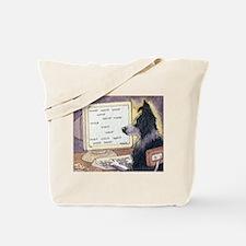Border Collie dog writer Tote Bag