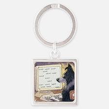 Border Collie dog writer Keychains