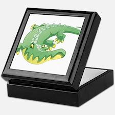 Green Crocodile Keepsake Box