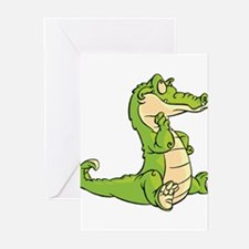 Thinking Crocodile Greeting Cards (Pk of 10)