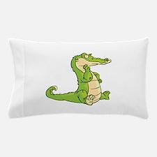 Thinking Crocodile Pillow Case