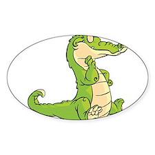 Thinking Crocodile Decal