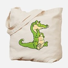Thinking Crocodile Tote Bag