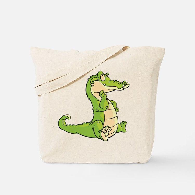 Thinking Crocodile Tote Bag