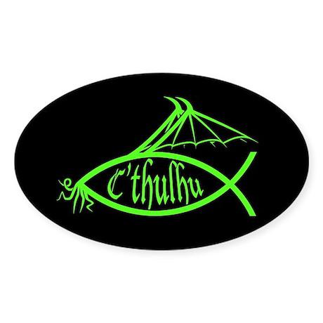 C'thulhu Fish Oval Sticker
