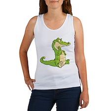 Thinking Crocodile Tank Top