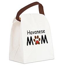 Havanese Mom Canvas Lunch Bag